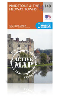 Ordance Survey Explorer Active Map - Maidstone and the Medway Towns